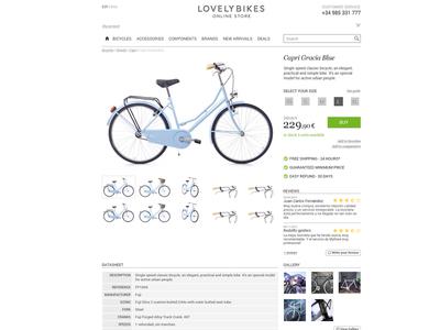 Lovelybikes Layout design layout online shop