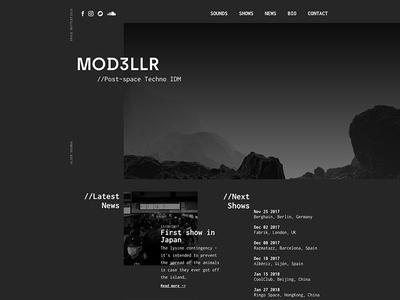Mod3llr (proposal) webdesign brutalism design layout web