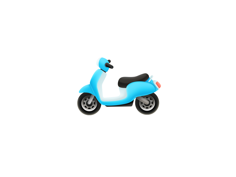 Motobike moto vehicle motorcycle motorbike design 2d icon illustration