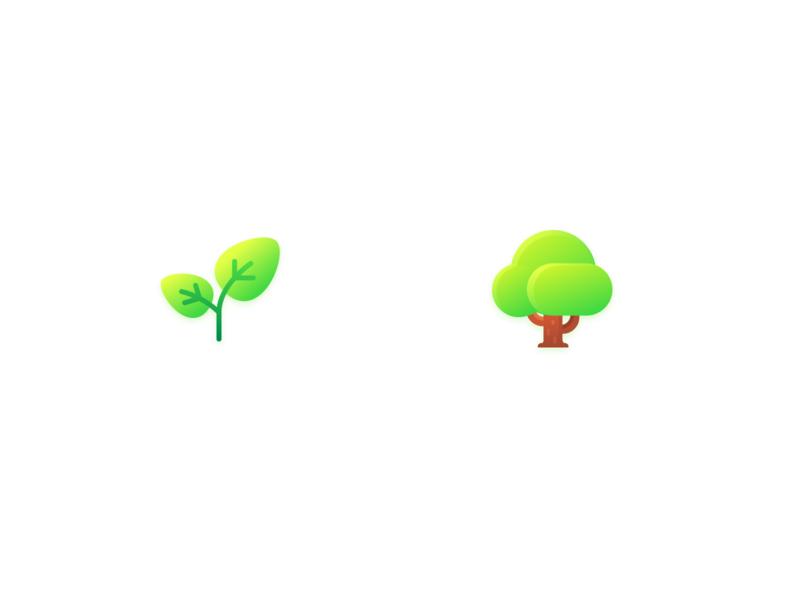 Tree green leaf treee vector icon