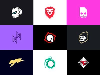 Selected Logo Marks deadly byte nikan nadim nkuch creative grenade faze studio gamma gamers temperrr arma centrum logomark mark logo