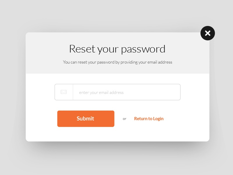 Reset Password website design web minimal clean ui flat interface ux whiteapp modal