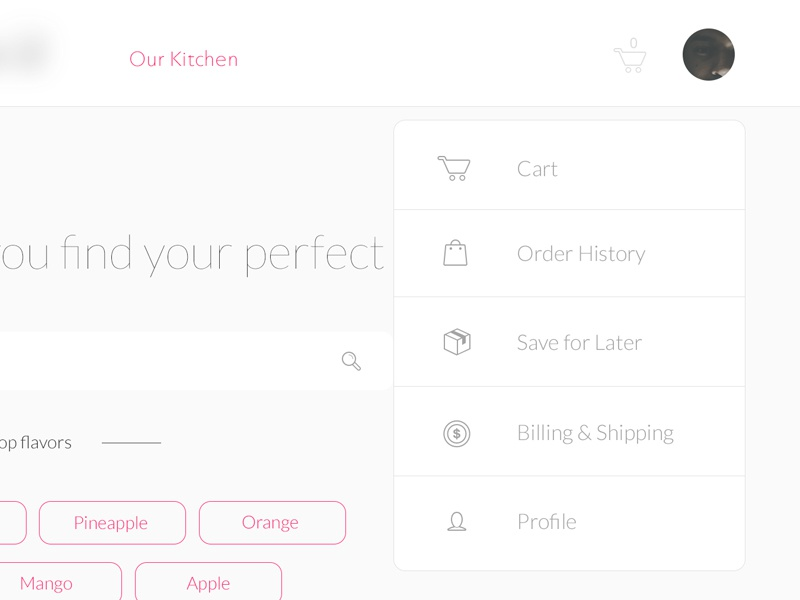 Dropdown Menu dropdown white minimal user interface design flat interface ui clean ux web website