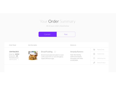 Order Summary Page order page white minimal design flat interface ui order web website clean ux