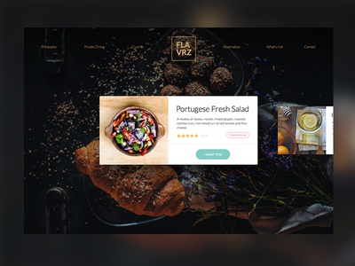 Flavrz Restaurant responsive sketch webdesign card website app web design minimal food ux ui
