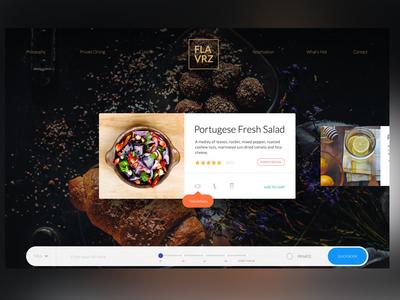 Flavrz Drble2 slider order webdesign website web design card restaurant food clean ux ui