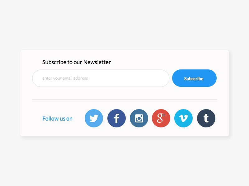 Subscribe To Newsletter modal white newsletter ecommerce cart shopping minimal flat design clean ux ui