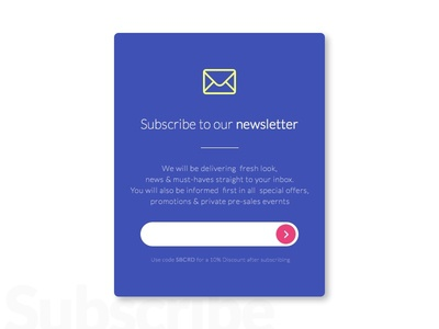 Subscribe ecommerce web newsletter subscribe shop card design minimal clean ux ui