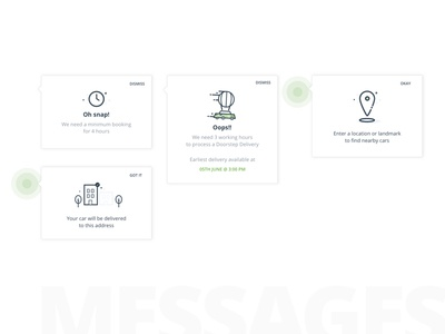Messages ux ui ios illustration error message modal minimal white design card
