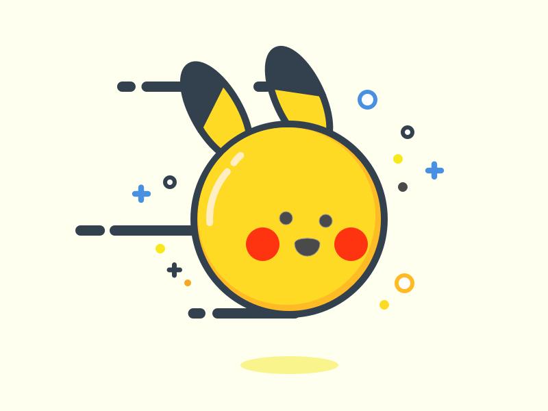 Pokemon flat line icon icon simple pokemon go pokemon character illustration illustrator art adobe