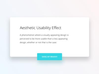 Aesthetic Usability Effect uiux ux ui flat clean aesthetic ios modal card design minimal white