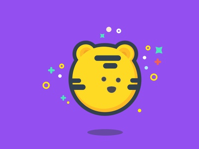 International Tiger Day character tiger flat simple line icon icon sketch adobe illustrator illustration