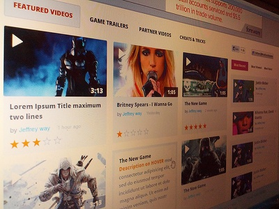 UI Design Gaming Website (Video Listing Page) video design game gaming ui ux list listing