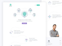 Home page design of a SaaS product