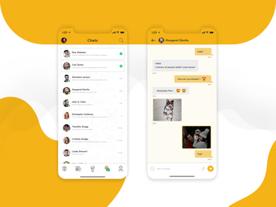 Pet Social Networking App app design mobile android iphone