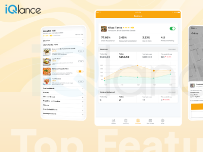 Healthy Food Delivery   Food Delivery   iQlance Solutions iphone android illustration web design app design mobile uiux food delivery ap
