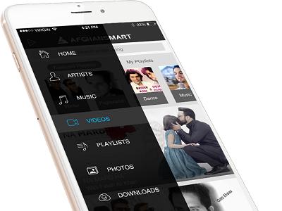Afghansmart - Music App Design app design web design iphone android mobile music app
