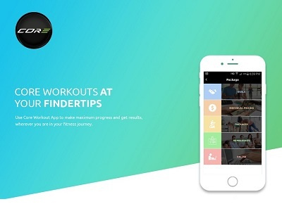Core Workouts - Mobile App Design web development web design personal performance mobile application development marketing game developers fitness 3d