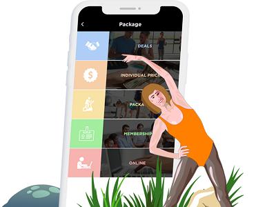Fitness Trainer App Design design app mobile trainer fitness