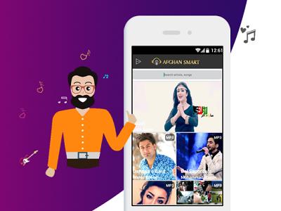 Afghansmart design love listen app ux ui player music fluent desktop