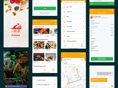 Online Food Delivery food delivery app online food gps food app app design iphone android food delivery application