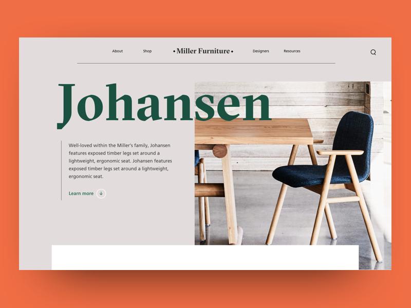 Furniture Website by Aditya Chaudhary on Dribbble