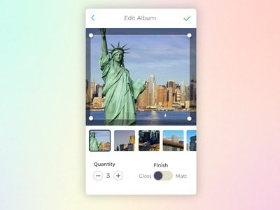 Photo Crop UI Screen design mobile ui crop tool mobile app ui