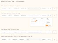 Project Management Filters - Web App