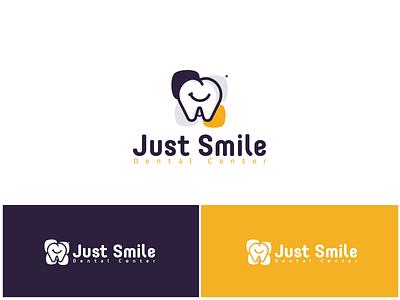 Just Smile Dental Center Logo Design symbol brand identity brand branding logo design logo