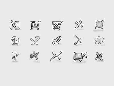 X1 Store Logo Sketches sketches sketch symbol brand identity brand branding logo logo design