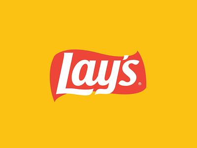 Lay's Logo Flat style symbol brand identity brand branding logo logo design