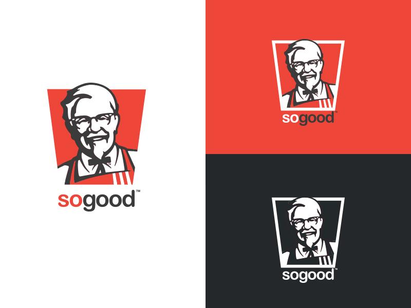 KFC Logo made Flat flat flat logo kfc symbol brand identity brand branding logo logo design