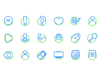 Blog Essentials Icon set Vo. 1 identity icon father icons ui blogging blog icons