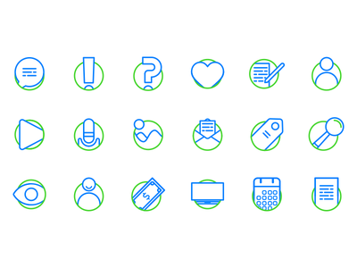 Blog Essentials Icon set Vo. 1 identity icon father icons ui blogging blog icons