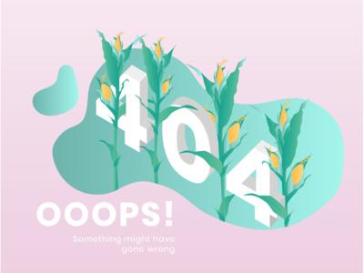 404 // OOOOOPS web design colourpallet graphicdesign corn 404 illustrator