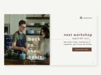 Cooking Workshop Landing Page