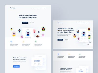 Landing Page Concepts interface indentity web design startup cards homepage landing page illustration saas branding layout web design app website concept clean minimal ux ui