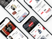 Hype Clothing App UI Project