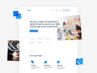 B2B Marketing Agency Landing Page