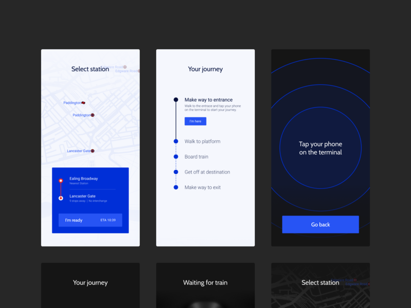 Rails Dynamic Theme mobile dark ui light ui map technology payment metro train branding design app concept clean minimal ux ui