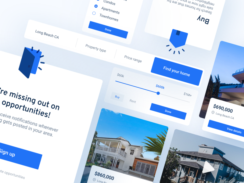 getHome Website Interface Elements webdesign grid product template ui elements ui kit cards icons web flat design app website concept clean minimal ux ui