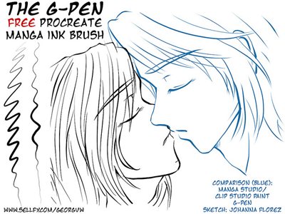 The G-Pen - Procreate Manga Ink Brush Demo