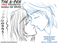 The G-Pen - Procreate Manga Ink Brush Demo