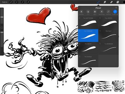Franquin's Ink Monster - Procreate Ink Brush Demo