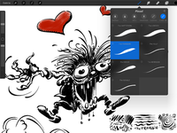 Franquin's Ink Monster - Procreate Ink Brush Demo