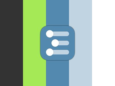 Workflowy Concept, Shot 3: Palette [WIP] wip design white blue green off-black ui icon palette