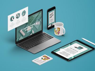 Clean Brand Identity print design website brand identity