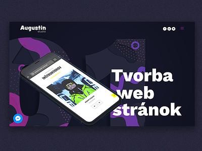 Portfolio web page mobile design portfolio web