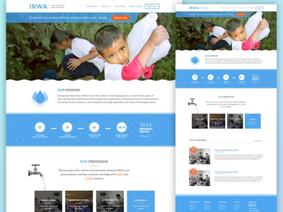 IRWA - Homepage Mockup web mockup website clean blue hero