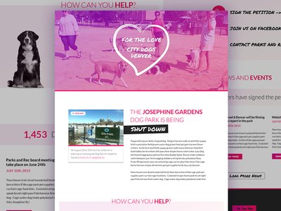 Dogs Denver Dribble one page pink community